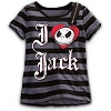 Disney Girl's Shirt - Jack Skellington Zipper Tee for Girls