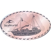 Sea World Pressed Penny - Pirate Ship - SeaWorld Orlando