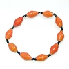 Disney EPCOT Recycled Paper Bracelet - Orange - Small Fat Beads