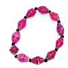 Disney EPCOT Recycled Paper Bracelet - Dark Pink - Small Fat Beads