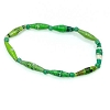 Disney EPCOT Recycled Paper Bracelet - Green - Long Thin Beads