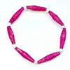 Disney EPCOT Recycled Paper Bracelet - Dark Pink - Long Thin Beads