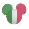 Disney Antenna Topper - Mickey Mouse Ears Italian Italy Flag Ball