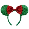 Disney Holiday Christmas Hat - Minnie Mouse Ear Headband with Bow