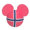 Disney Antenna Topper - Mickey Mouse Ears Norway Flag Ball