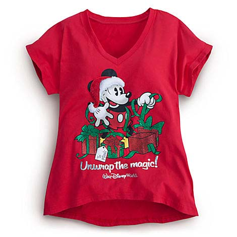 Your WDW Store - Disney WOMEN'S Shirt - Christmas - Mickey Mouse ...