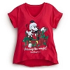 Disney WOMEN'S Shirt - Christmas - Mickey Mouse Unwrap the Magic!