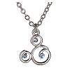 Disney Arribas Necklace - Mickey Mouse Icon Blue Swarovski Crystal