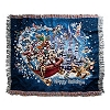 Disney Throw Blanket - Holiday Mickey Mouse and Friends in Sleigh