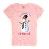 SeaWorld Youth Shirt - Pink Christmas Holiday Snowman