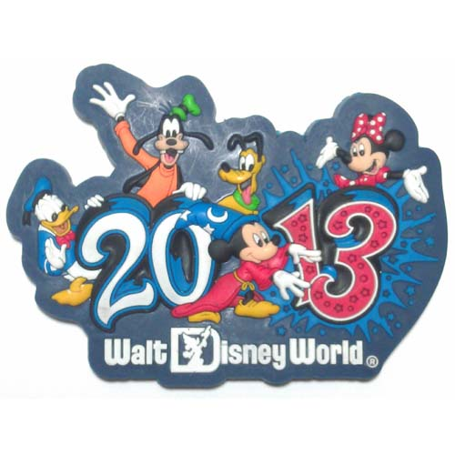 your wdw store disney magnet 2013 logo mickey and pals