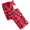 Disney Adult Lounge Pant - Santa Mickey and Minnie Snowflake - Fleece