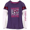 Disney Child Shirt - Mascot Mickey Double-Up Tee for Girls - Purple