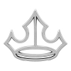Disney Vehicle Emblem - Silver Princess Crown
