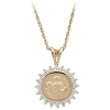 Disney Necklace - Mickey Mouse Gold Coin Necklace