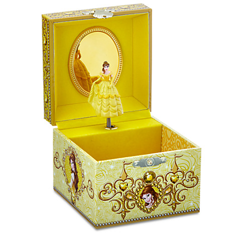 Your wdw store disney trinket box belle musical for Princess diana jewelry box