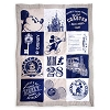 Disney Throw Blanket - Mickey Mouse Quilted Throw - Blue & White