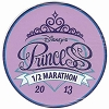 Disney Auto Magnet - 2013 runDisney Princess 1/2 Marathon - Circle