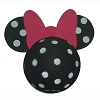 Disney Antenna Topper - Minnie Mouse Polka Dot - Black and White