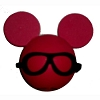 Disney Antenna Topper - Red Icon - Black Glasses