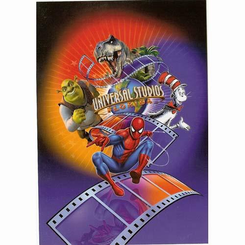 Cartoon Characters Universal Studios : Your wdw store universal postcard studios