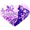 Disney Engraved ID Tag - Rapunzel - Pink Heart