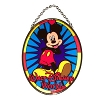 Disney Stained Glass Sun Catcher - Mickey Mouse - Medium