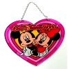 Disney Stained Glass Sun Catcher - Mickey & Minnie Mouse - Heart