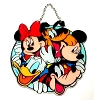 Disney Stained Glass Sun Catcher - Fab 5 Mickey & Pals - Large