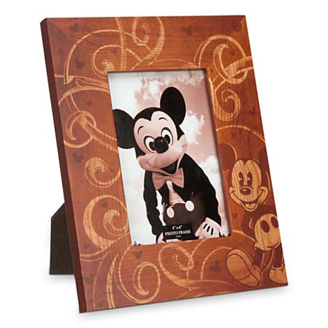 disney picture frame illustrated mickey mouse wood 4 x 6 - Disney Picture Frame