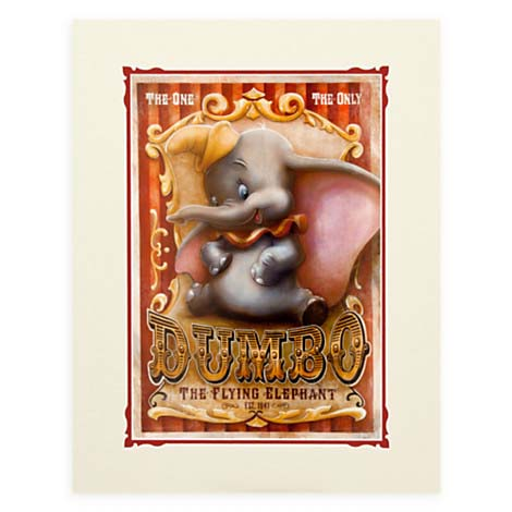 Your Wdw Store Disney Darren Wilson Print Dumbo Circus