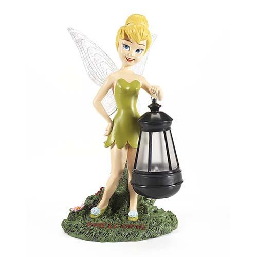 Disney Garden Statue   Flower Garden   Tinker Bell With Solar Lantern