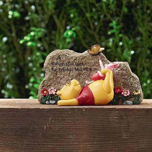 Disney Garden Stone Flower Garden Rock Winnie The Pooh