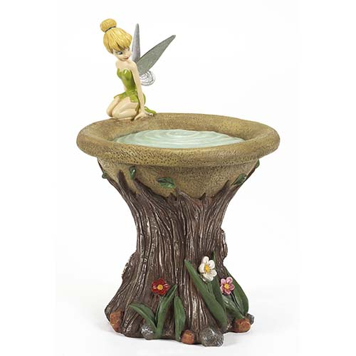 Your WDW Store - Disney Bird Bath - Flower Garden - Tinker Bell