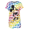 Disney Child Shirt - Peace Love Mickey Rainbow Mickey Mouse Girls Tee