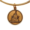 Disney Alex and Ani Charm Bracelet - Disney World Castle - Gold