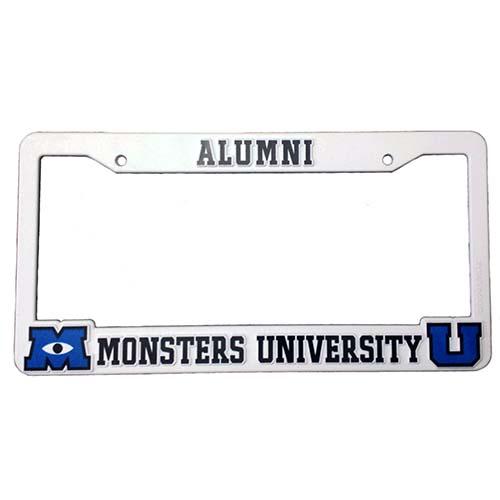 disney license plate frame monsters university alumni - Disney License Plate Frame