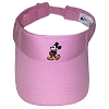 Disney Mens Sun Visor Hat - Standing Mickey Mouse - Pink