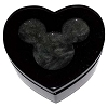 Disney Trinket Box - Handcarved Alabaster Heart w/ Mickey Icon - Black