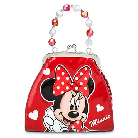 your wdw store disney bag purse minnie mouse glitter