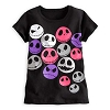 Disney Child Shirt - Jack Skellington Faces Tee for Girls