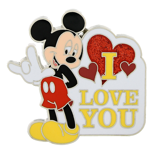 "Your WDW Store - Disney Mickey Pin - Sign language ""I Love You ..."