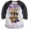 Disney Girl's Shirt - Halloween - So Cute It's Scary Raglan Tee