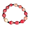 Disney EPCOT Recycled Paper Bracelet - Red - Small Fat Beads