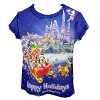 Disney GIRLS Shirt - Ice Castle - Mickey and Pals - Happy Holidays