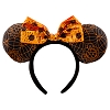 Disney Halloween Hat - Minnie Sequin Ears - Orange and Black