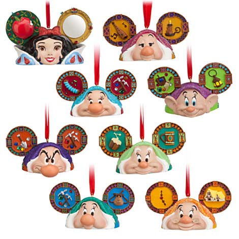 Your WDW Store - Disney Christmas Ornament Ears Set - Snow White ...