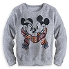 Disney LADIES Sweater - Mickey and Minnie Scarf Sweater for Women