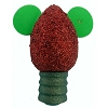 Disney Antenna Topper - Christmas - Red Glitter Lightbulb Ears Icon