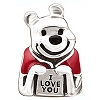 Disney Chamilia Charm - Sterling Silver Winnie The Pooh - I Love You